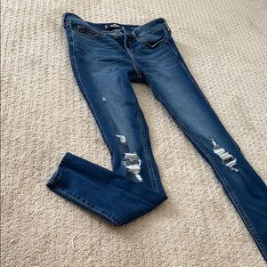Hollister 3R low rise super skinny cropped jeans